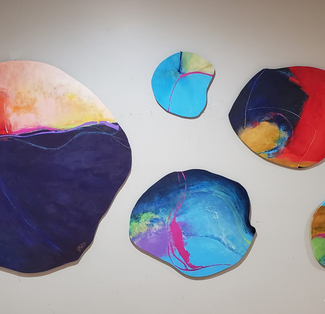 Abstract Rounds Set of (5)