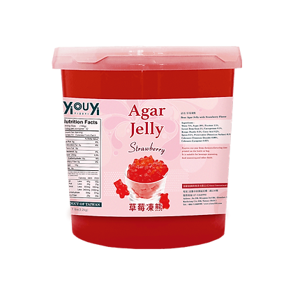 Strawberry Bear Agar Jelly