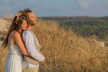 חן ועדי - חתונה בטבע