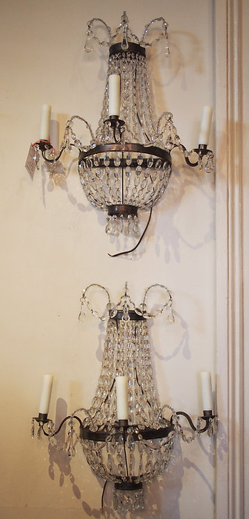 A Pair of French Chandelier Style Sconces