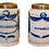 Thumbnail: PAIR OF 18TH C. BLUE AND WHITE APOTHECARY JARS