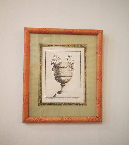 18th C. Engravings of Garden Urns