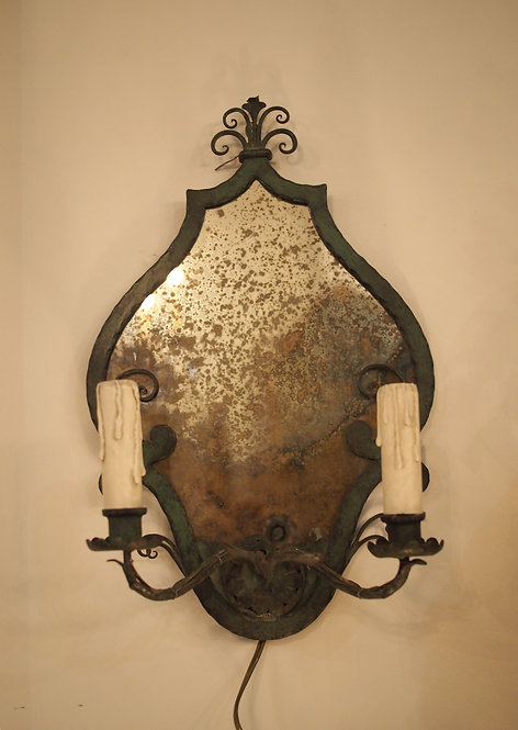 Pair of Verdigris French Wall Lights
