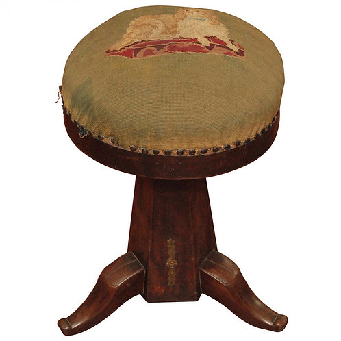 PERIOD EMPIRE PIANO STOOL