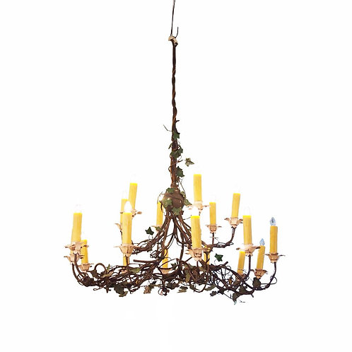 IRON AND TOLE IVY CHANDELIER