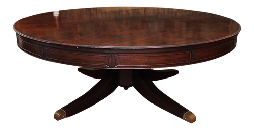 LARGE ROUND DINING TABLE ON A PEDESTAL BASE