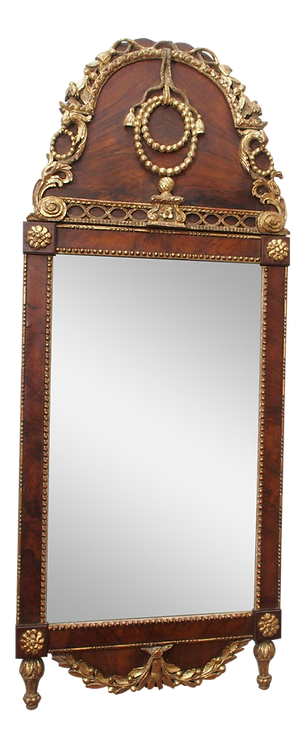 LATE 18C. LARGE ADAM STYLE MIRROR
