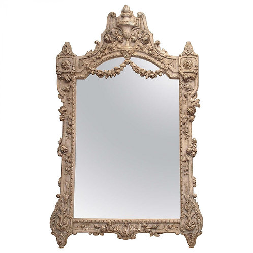 19C FRENCH LOUIS XV STYLE MIRROR