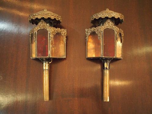 Pair of 19th C Petite Carriage Lanterns