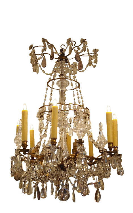 CRYSTAL CHANDELIER IN THE MANNER OF BAGUES