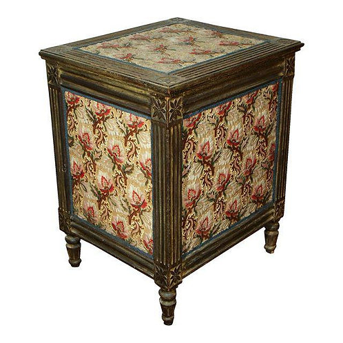A LOUIS XVI STYLE TRUNK OR LIFT-TOP TABLE