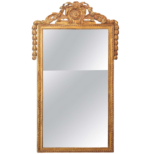 FINELY CARVED LOUIS XVI STYLE MIRROR