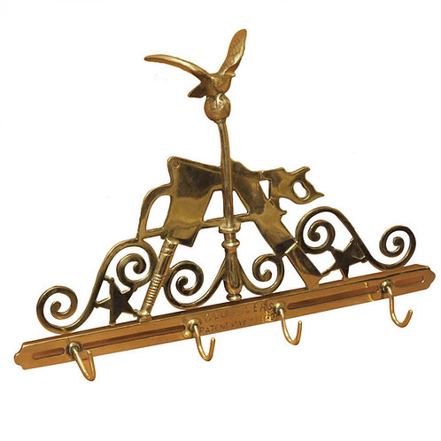 A FINELY WROUGHT 19C BUTCHER'S RACK