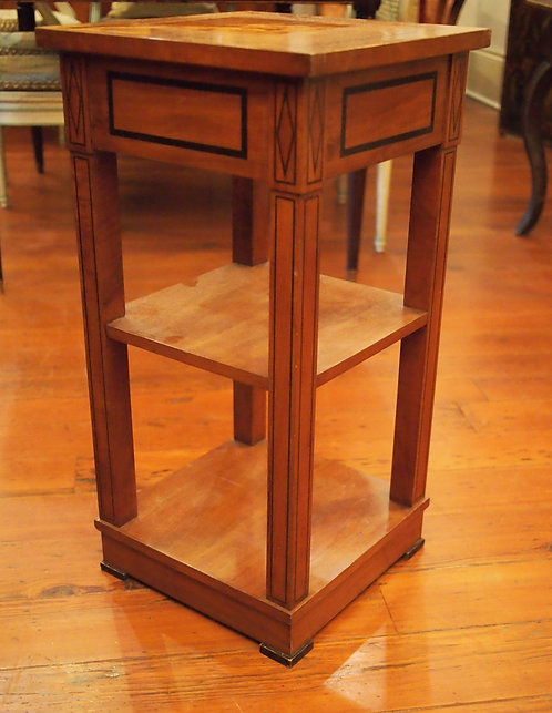 Small Table with Inlay Lozenge Shape