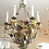 Thumbnail: IRON WIRE AND BEADED CHANDELIER