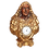 Thumbnail: GILTWOOD AND POLYCHROME BUST WITH CLOCK