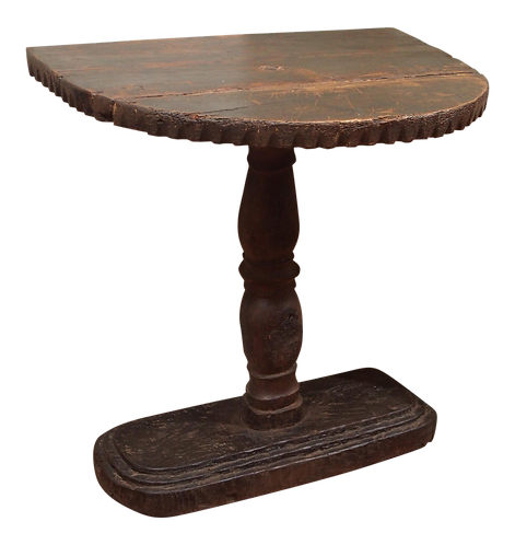 PIEDMONTESE DEMILUNE SIDE TABLE