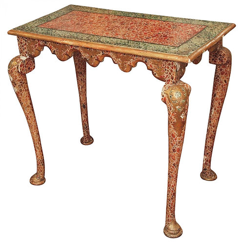 POLYCHROME LATE BAROQUE STYLE CONSOLE TABLE