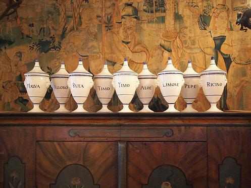 Italian Majolica Apothecary Jars (priced per jar)