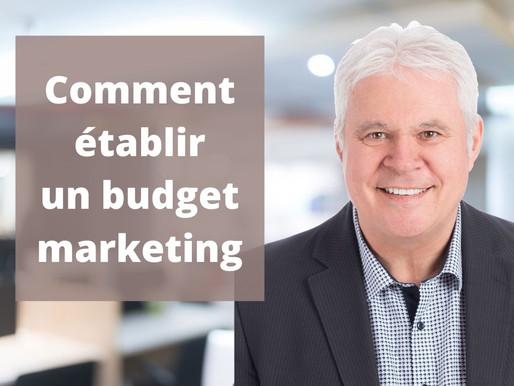 Comment établir un budget marketing ?