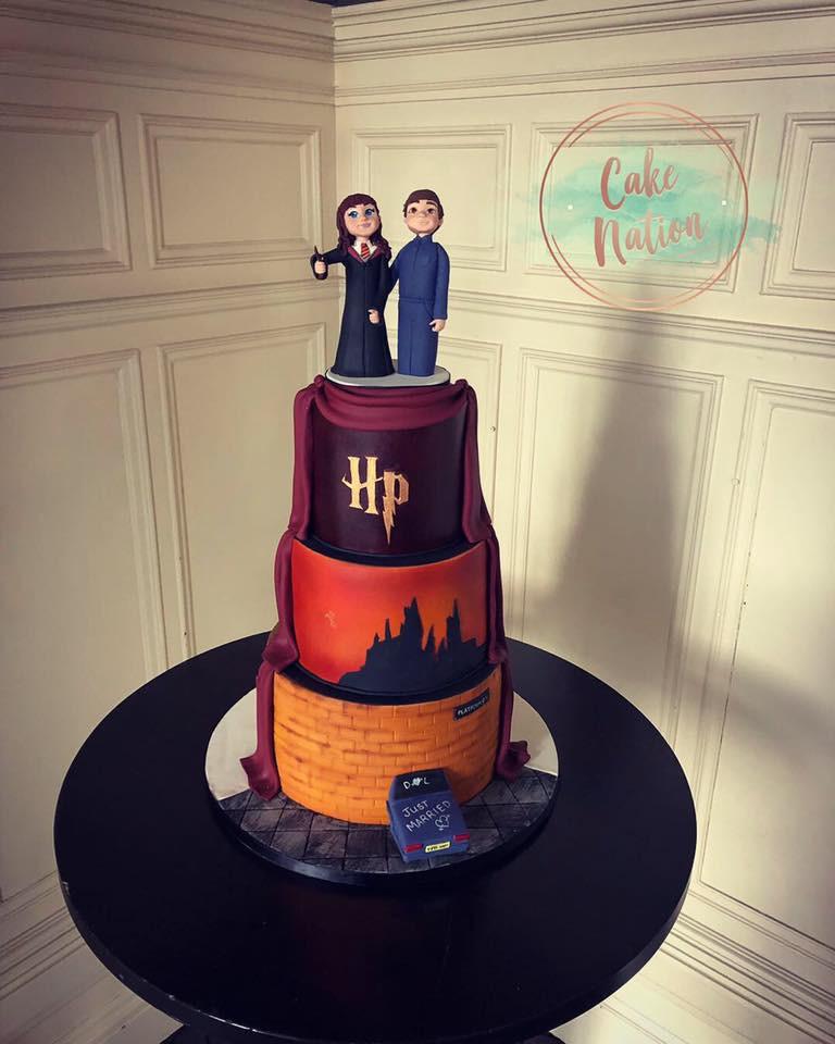 Harry Potter Wedding Cake.Harry Potter Wedding Cake