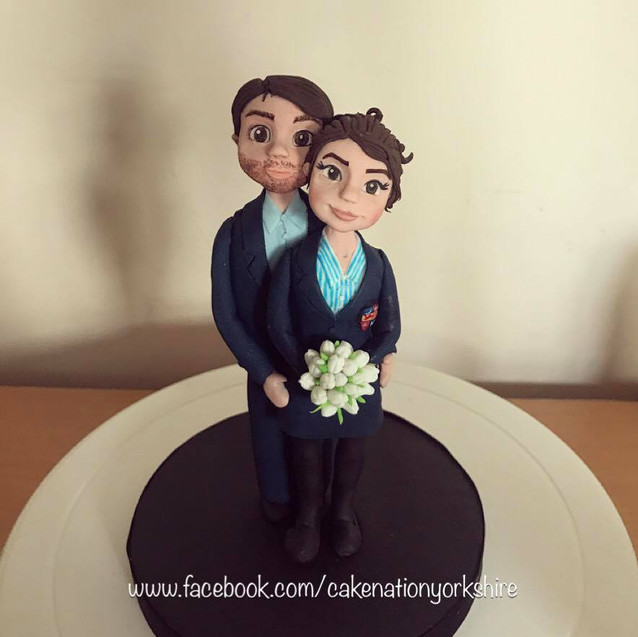 Custom Bride and Groom Topper