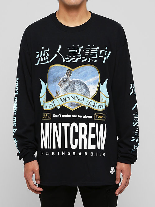 〔MCFR 3〕MINTCREW collaboratin with #FR2 L/S Tee / BLACK
