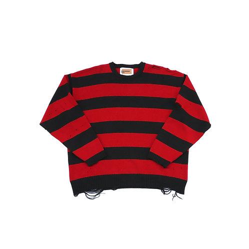 Grange cashmere border knit
