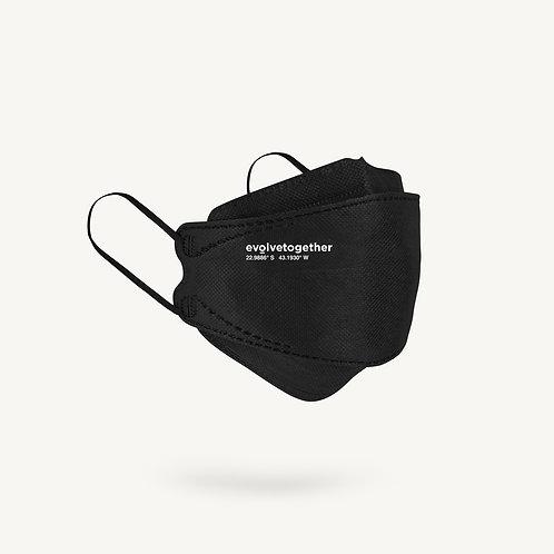 KN95 evolvetogether / black(5 face masks pack)