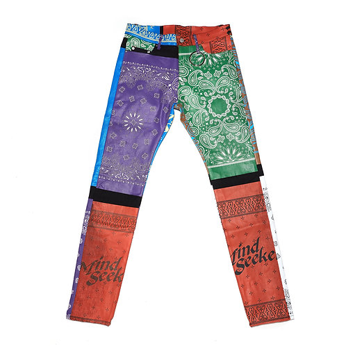 Bandana Denim Pants