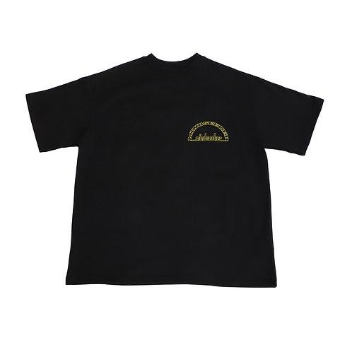 Split Sky T shirts / BLACK