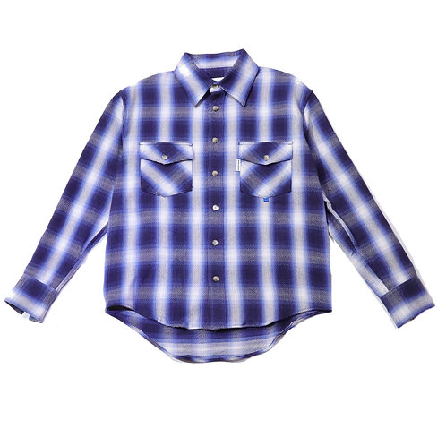 Regular fit Heavy cotton check shirts / BLUE
