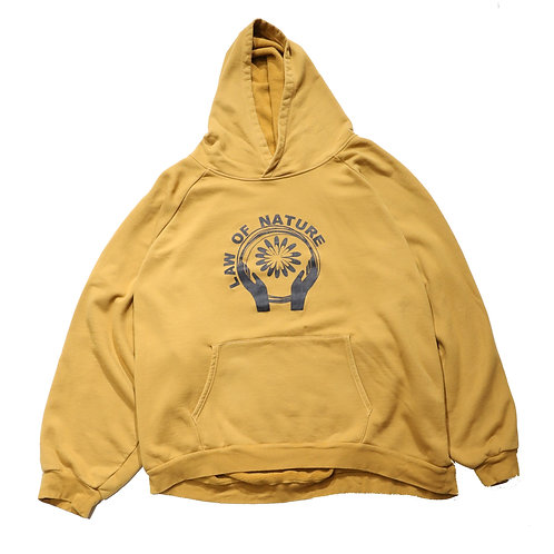 "EX Overfit ""LAW of NATURE"" hoodie / BROWN"