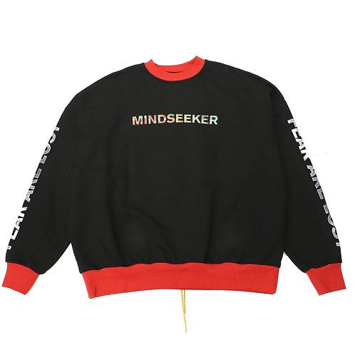 MM Logo Mix R Over Size Sweat Shirt / BLK