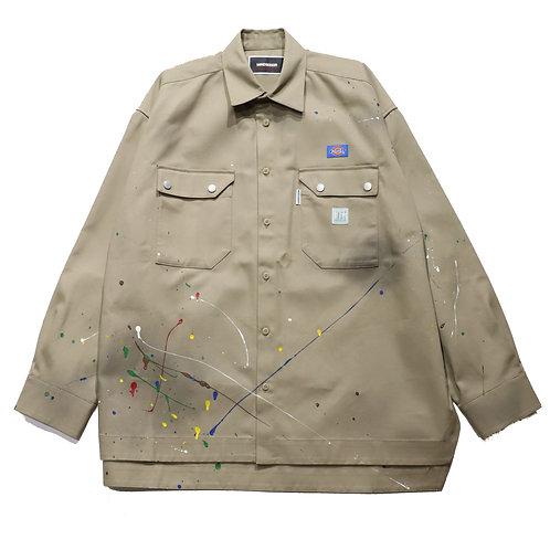 [P]Overfit Work Shirt / KHAKI