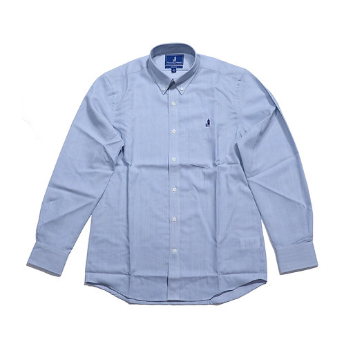 Wool & Prince / BUTTON-DOWN BLUE STRIPE