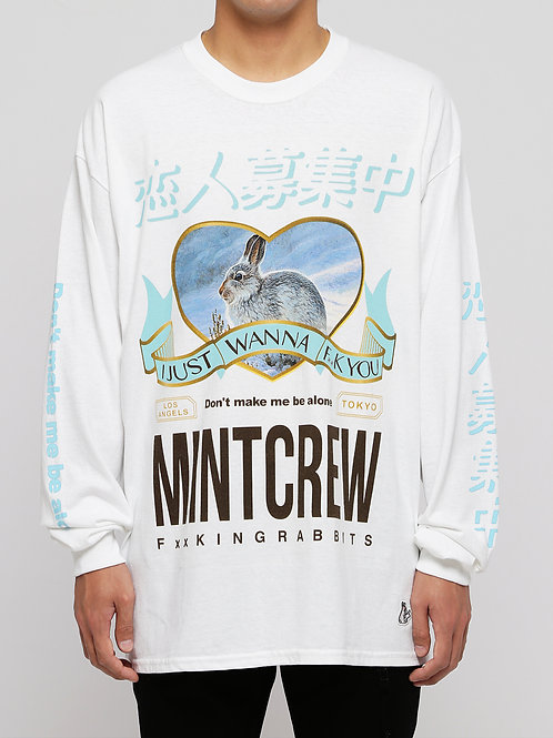 〔MCFR 3〕MINTCREW collaboratin with #FR2 L/S Tee / WHT