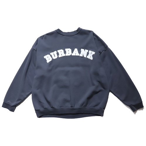 Overfit College pullover sweat shirt / CHACOAL GREY