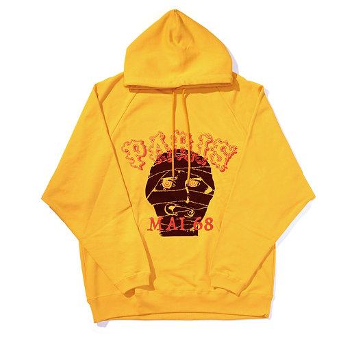 Oversized Ragian MAI68 Hoodie / Yellow