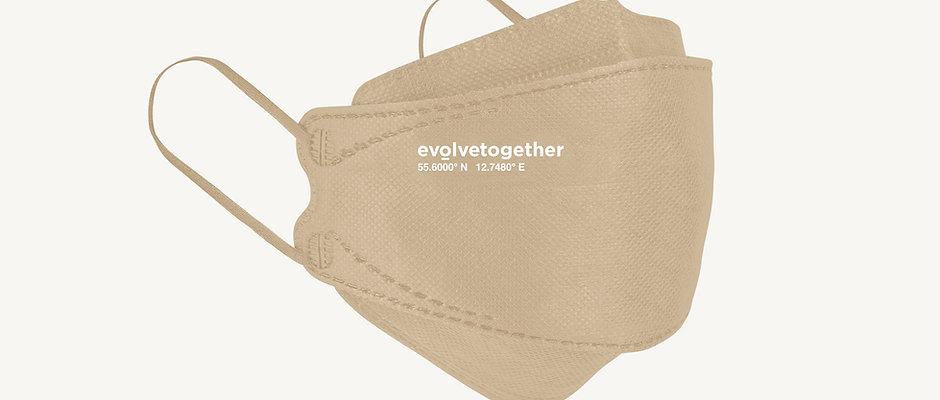 KN95 evolvetogether / beige(5 face masks pack)