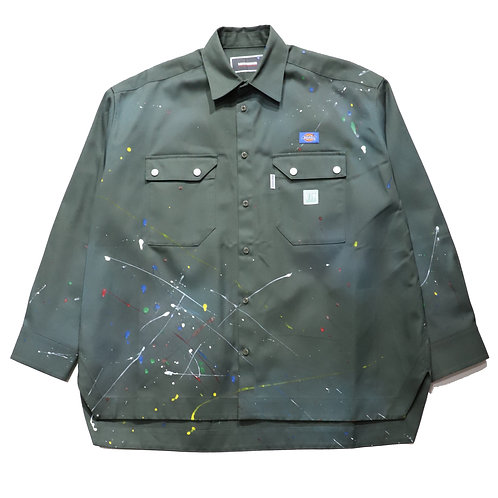 [P]Overfit Work Shirt / OLIVE GREEN