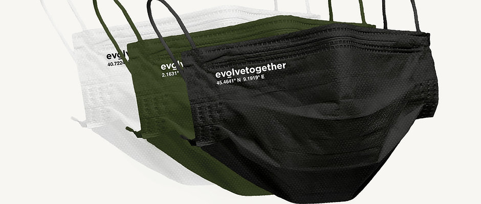 evolvetogether / 3color multipack(30 face masks pack)/ 税込