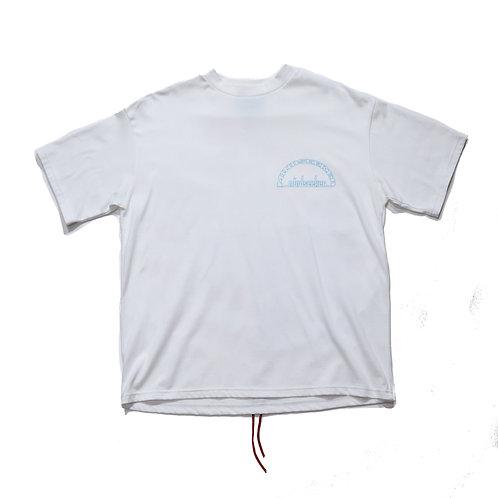 Split Sky T shirts / WHITE