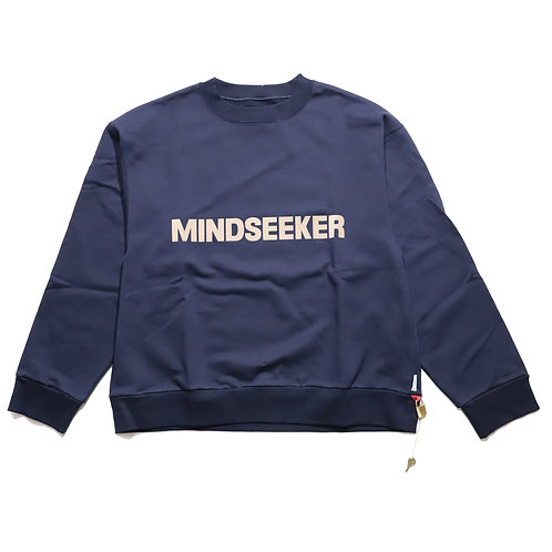 Reluxfit embroidery logo pullover sweatshirts / NAVY
