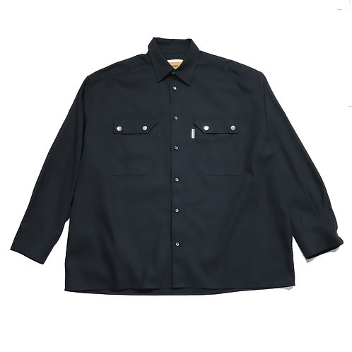over fit Oxford shirt / BLACK