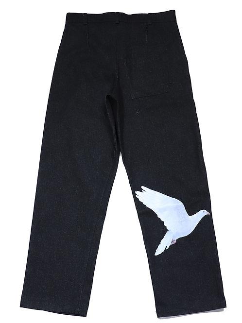3.PARADIS / PAOLO trousers black denim back