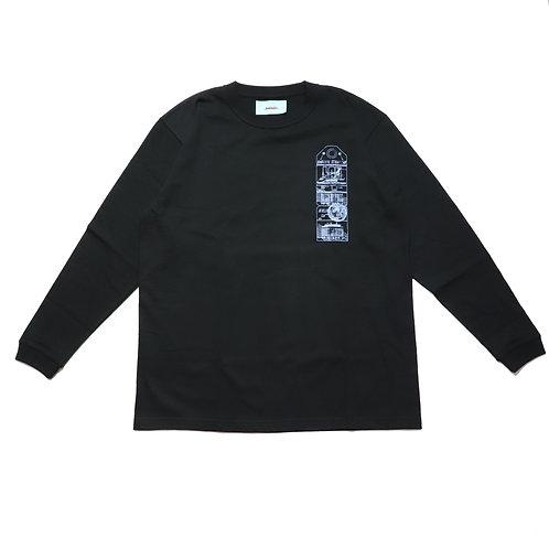 2PACK long sleeve T-shirt / BLK 〔公式ストア限定〕