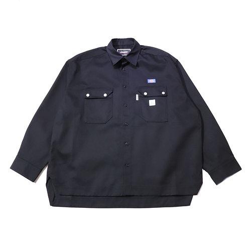 Overfit Work Shirt / BLACK