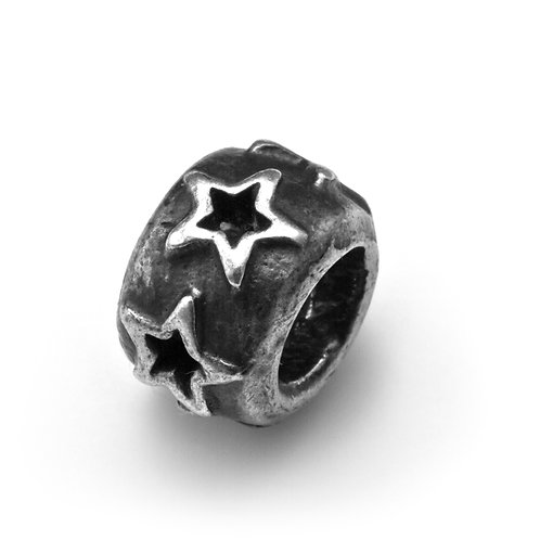 HOLLOW STAR RONDELLE BEAD