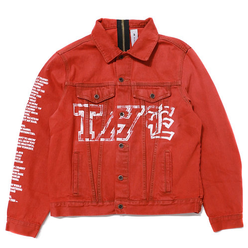 THE Girl Denim Jacket / Red